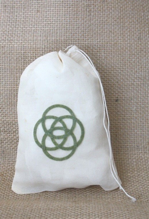 Brave Celtic Symbol Change Your Fate Muslin Drawstring Bag
