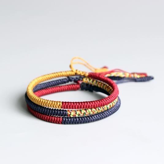 5a805f5dc59d4 Multi Color Tibetan Buddhist Lama Braided Knots Lucky Rope Bracelet For Man  Women Size Adjustable Handmade The Original Made By Hand From The Tibetan  Monks