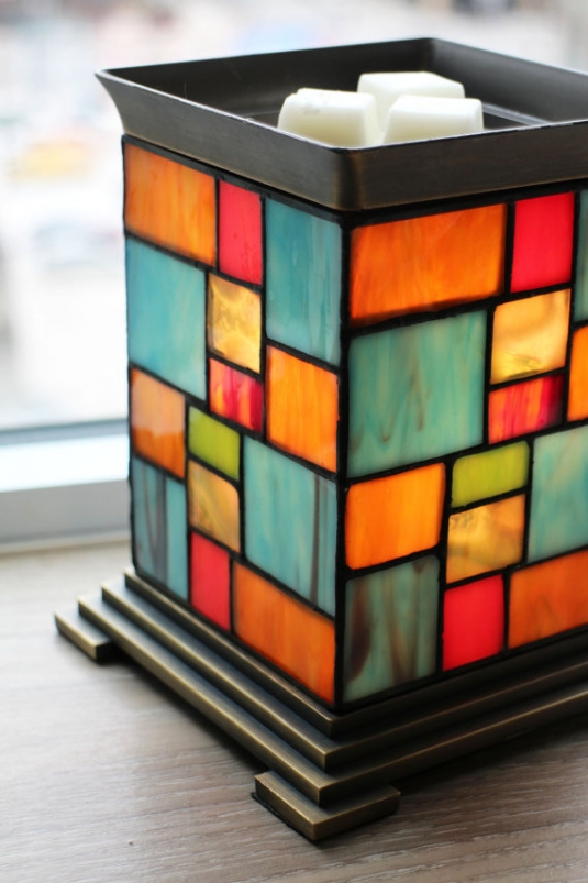 Patchwork Perfection Handmade Electric Stained Glass