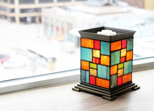 patchwork perfection handmade electric stained glass candle warmer lamp tart burner wax melter