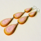 embroidered felt earrings
