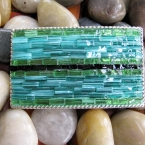 Terquoise Stained Glass Mosaic Belt Buckle