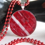 Mosaic Pendant Fiery Red