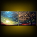 "56"" wide x 22"" high and 3/4"" thick original painting"