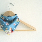 Retro Rocket ship bandana bib