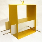 Cubist Bird feeder - Yellow