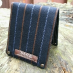 leather and wool bifold billfold wallet by Sewlutions by AMO