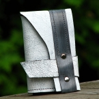 Trifold leather wallet in Distressed Gray by Sewlutions by AMO