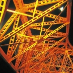 The unique metal structure of Tokyo Tower