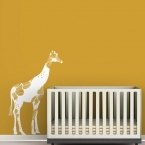 Baby Floral Giraffe Wall Decal