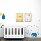 Summer Rain Wall Decal