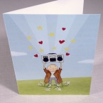 Boombox Love - Greeting Card front