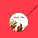 24 Round Address Labels - Personalize