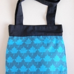 Blue leafs handbag
