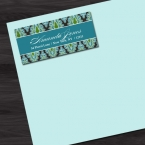 60 Chic Damask Return Address Labels, Thank You Stickers, Holiday Labels