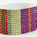 Hancoli Striped Swarovski Cuff