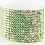 Hancoli Green and Yellow Swarovski Cuff