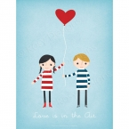 Love Is In The Air - 18 x 24 Art Poster Print