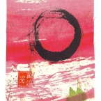 Pink Enso Zen Circle of Enlightenment