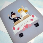 Wedding Car Greeting Card