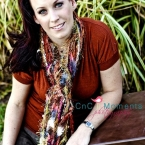 Women's Outdoor Portrait with my Colorful Fringe Ribbon Scarf