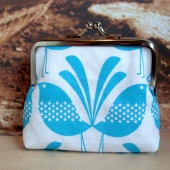 blue birds coin purse