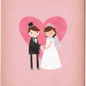 Bride & Groom Wedding 8x10 Print