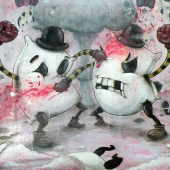 Art of Chris Brett ~ Pillow Fight