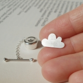 tie tack from the weather forcast collection - sterling silver cloud, handmade i