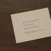 Emerson Quote 4x6 Letterpress Photo 1