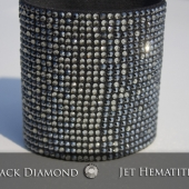 "3"" wide Jet Hematite Black Diamond"