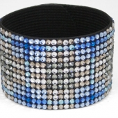 Hancoli Blue Plaid Swarovski Cuff