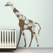 Floral Giraffe Wall Decal