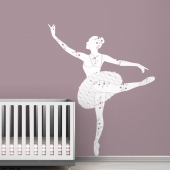 Ballerina Black Label Wall Decal