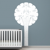 Cornet Tree Black Label Wall Decal
