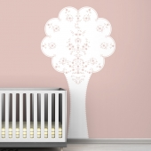 Vineyard Tree Black Label Wall Decal