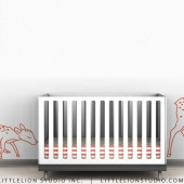 Deer Family Outline Wall Decal