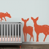 Deer Family Silhouette Wall Decal