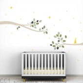 Follow the Little Rabbit Tree Branches Wall Decal