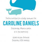 Whale Themed Baby Shower Invite Photo 1