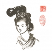 Woman in ancient china art