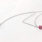 sterling silver and color pencil necklace No. 01
