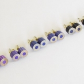 color pencil ear studs, the blue and purple series-1-pair
