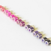 color pencil ear studs, the purple and pink series-1 pair