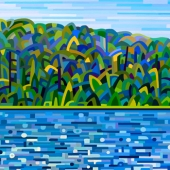 Abstract Art Print Lake of Bays