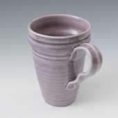 hand thrown mug in blackberry purple