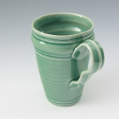 tapered mug celery green