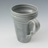 tapered mug in light blueberry