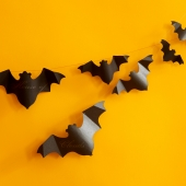 Halloween Bat Paper Garland