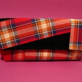 Plaidy McPlaidster Red Plaid and Black Herringbone Wristlet Party Rakc